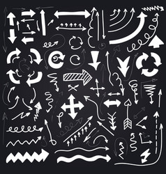 artistic hand drawn arrows set vector image