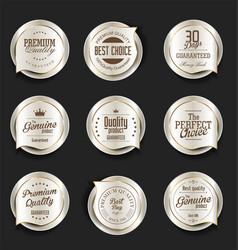 modern design gold and silver sale badges vector image