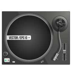 Modern black turntable vector