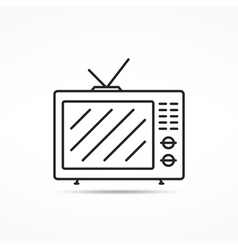 Retro TV Line Icon vector image
