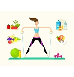 Woman healthy llifestyle vector