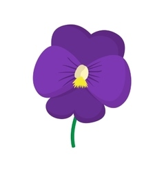 Violet icon cartoon style vector