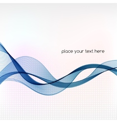 Abstract background with blue smoke wave vector image vector image
