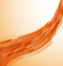 Abstract orange wave technology background vector image vector image