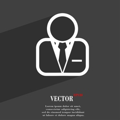 Avatar icon symbol Flat modern web design with vector image vector image