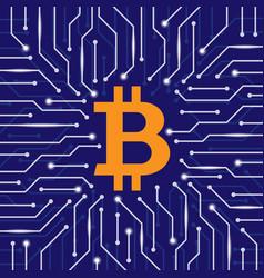 Bitcoin blockchain wallpaper vector
