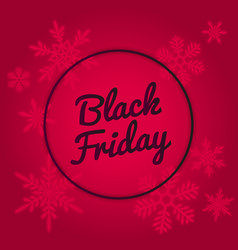 Black friday sale banner design red neon colors vector