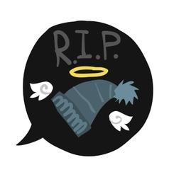 Cartoon rest in peace hat bubble vector