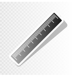 Centimeter ruler sign new year blackish vector