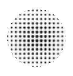circle halftone background vector image vector image