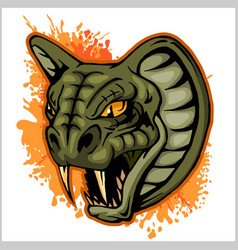 Cobra head mascot - vector