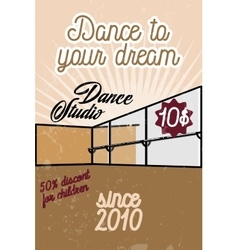 Color vintage dance studio banner vector
