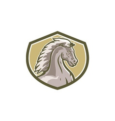 Colt Horse Head Side Shield Retro vector image