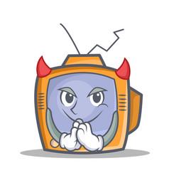 Devil tv character cartoon object vector