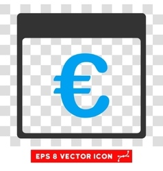 Euro currency calendar page eps icon vector