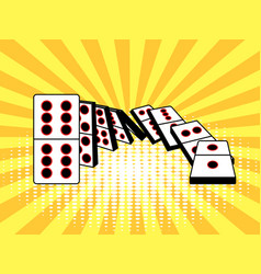 Falling dominoes comic book style vector