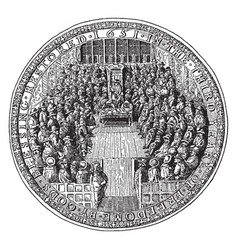 Great seal of england under the commonwealth vector