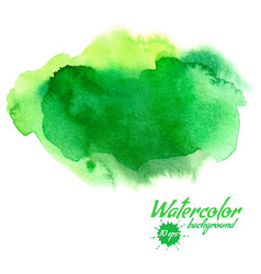 green abstract hand drawn watercolor vector image vector image