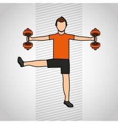 gym sport icon design vector image vector image