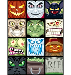 Halloween avatars vector