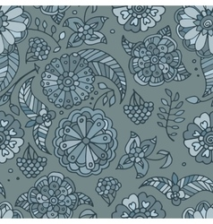 Hand drawn colored floral seamless pattern vector image vector image