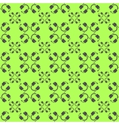 Headphones seamless pattern vector image