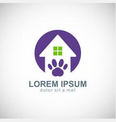 house pet dog logo vector image vector image