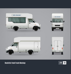 Ice cream truck design vector