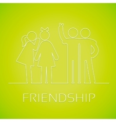 Icons friendship vector