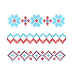 Knitted Retro cloth with Snowflake Element vector image