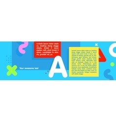long cartoon style banner infographic with vector image vector image