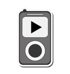 Mp3 music player icon vector