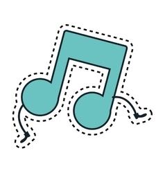 Music note kawaii character vector
