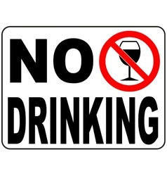 No drinking sign vector image vector image