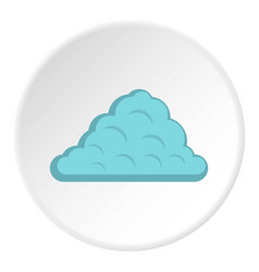 One cloud icon circle vector
