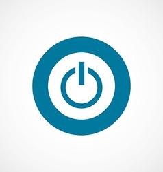power on bold blue border circle icon vector image
