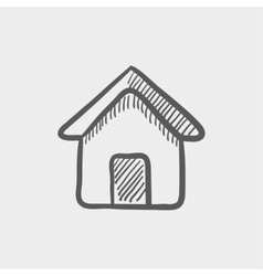 Real estate house sketch icon vector