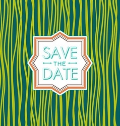 Save the date hipster style wedding invitation vector