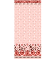 seamless pattern in pink colors with a wide border vector image vector image