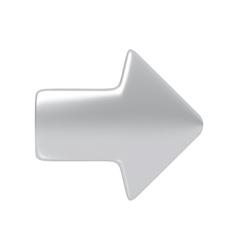 Silver arrow vector image