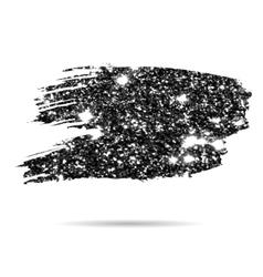 Silver glitter brush spot vector image