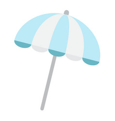 Sun umbrella flat icon travel tourism parasol vector