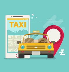 Taxi service smartphone flat vector