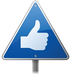 Thumbs Up Sign vector image vector image
