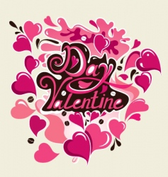 Valentine's day card vector image vector image