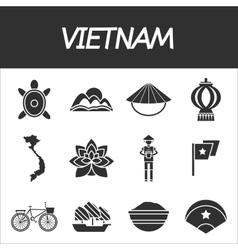 Vietnam icon set vector