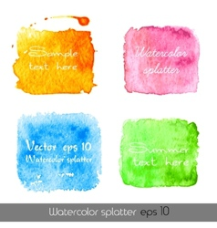 Watercolor splatters vector