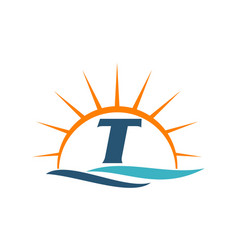 Wave sunset initial t vector