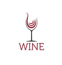 Wineglass design template vector