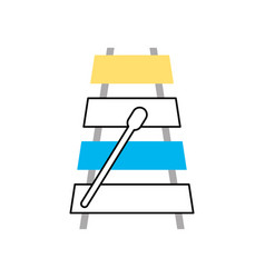 Xylophone musical instrument icon vector